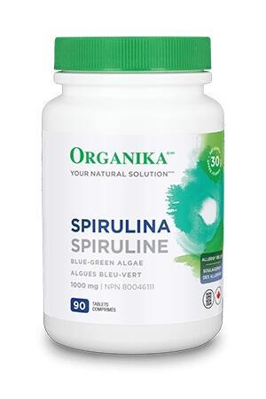Spirulina - superpotravina, bohatý zdroj vitamínů a železa 1000mg, 90 tablet