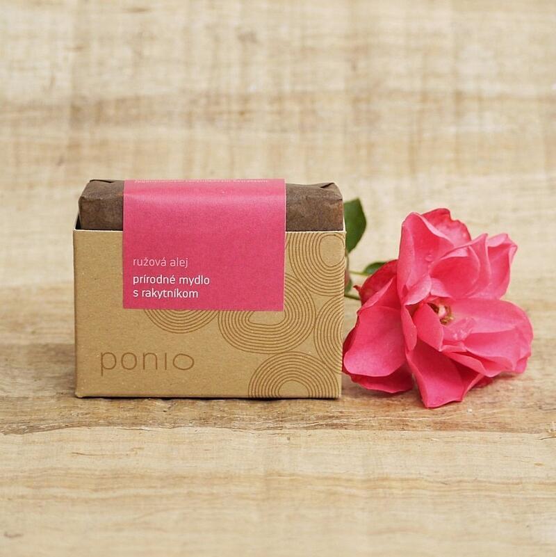 Růžová alej s rakytníkem - přírodní mýdlo 100g 2