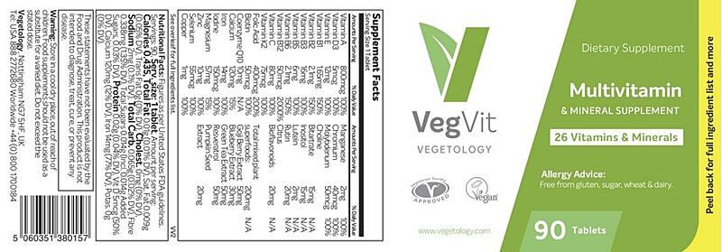 VegVit - Multivitamin a Mineral 90 tablet 4