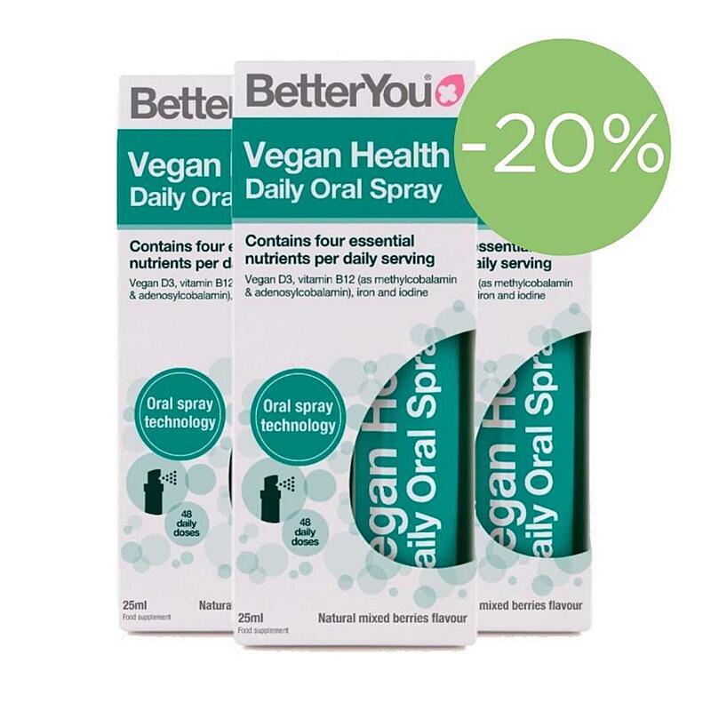 Vegan Health - D3, B12, železo a jód v spreji 25ml (zvýhodnené 3-balenie)