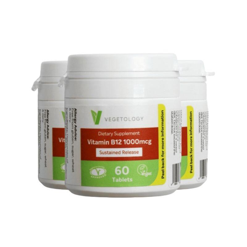 Vegetology B12 1000µg (Cyanocobalamin) 60 tablet (zvýhodněné 3-balení)